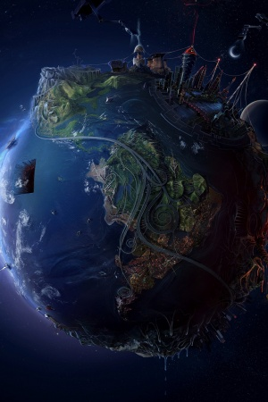 3D Earth View Mobile Wallpaper