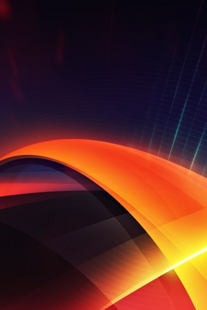 Abstract Orange Mobile Wallpaper