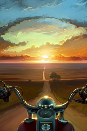 Multicolor artwork motorbikes Mobile Wallpaper