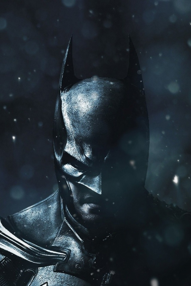 Batman Winter Black Mobile Wallpaper