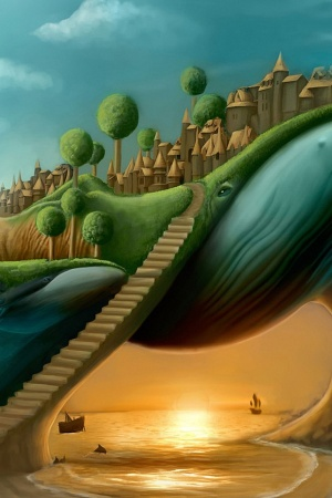 Surreal Stairways Mobile Wallpaper