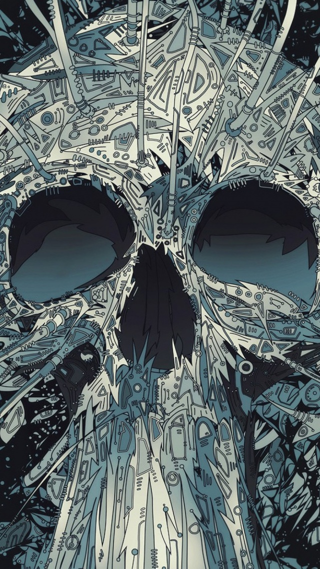 Abstract Skulls Artwork Mobile Wallpaper Mobiles Wall
