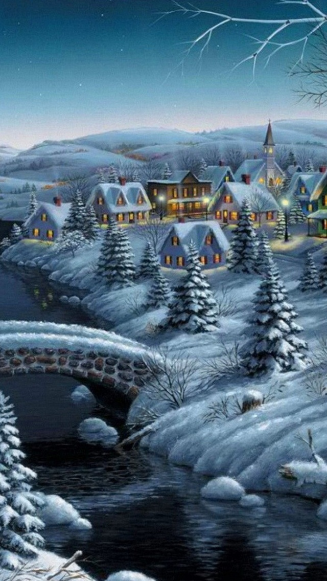 Winter Snow Christmas Mobile Wallpaper Android IOS Windows Phone Wallpapers