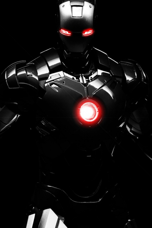 Black Iron Man Mobile Wallpaper