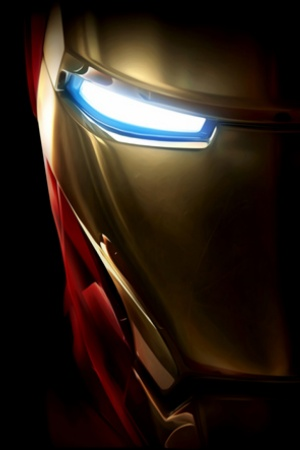 Iron Man black Background Mobile Wallpaper