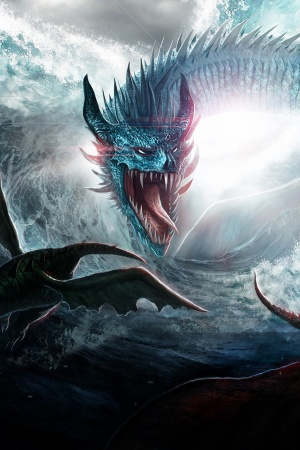 Dragons Ocean Sea Mobile Wallpaper