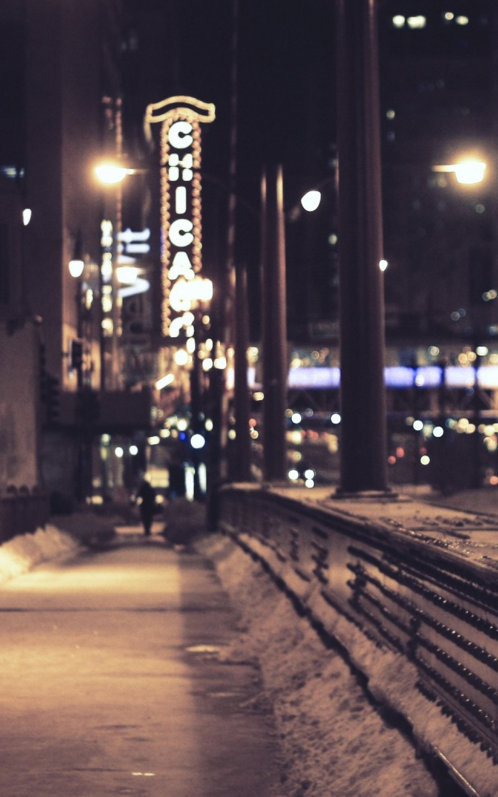 Chicago Snow Street Mobile Wallpaper Mobiles Wall