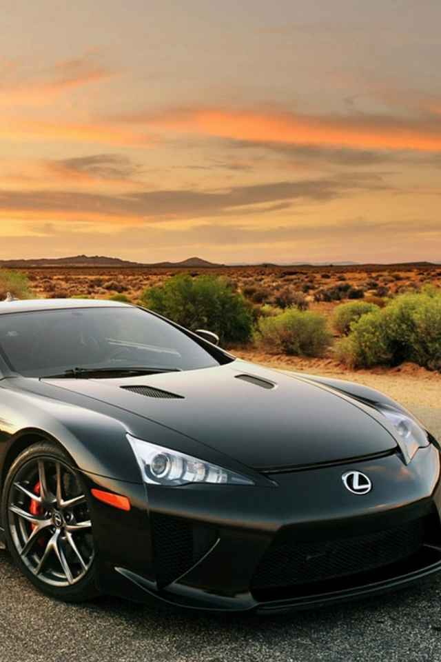Lexus Lfa Black Car Mobile Wallpaper Mobiles Wall