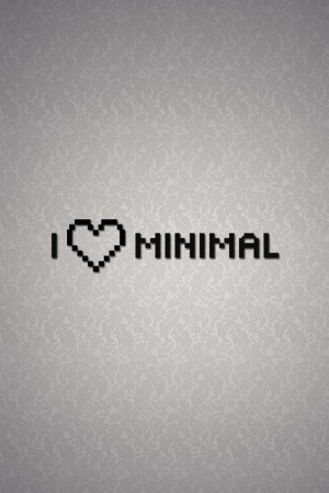 Love Minimalistic Slogan Mobile Wallpaper