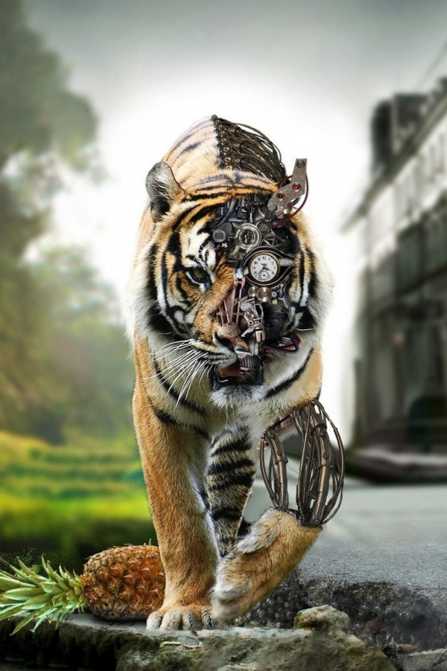 Tigers digital art mobile wallpaper mobiles wall download now altavistaventures