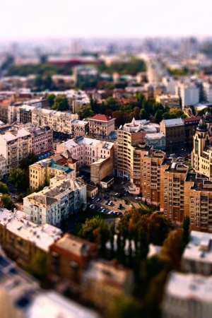 Cityscapes Tilt shift Mobile Wallpaper