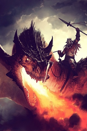 Fire Dragon Mobile Wallpaper