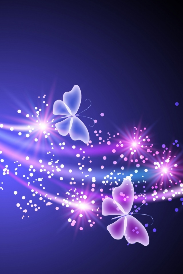 Neon Butterfly Mobile Wallpaper Mobiles Wall