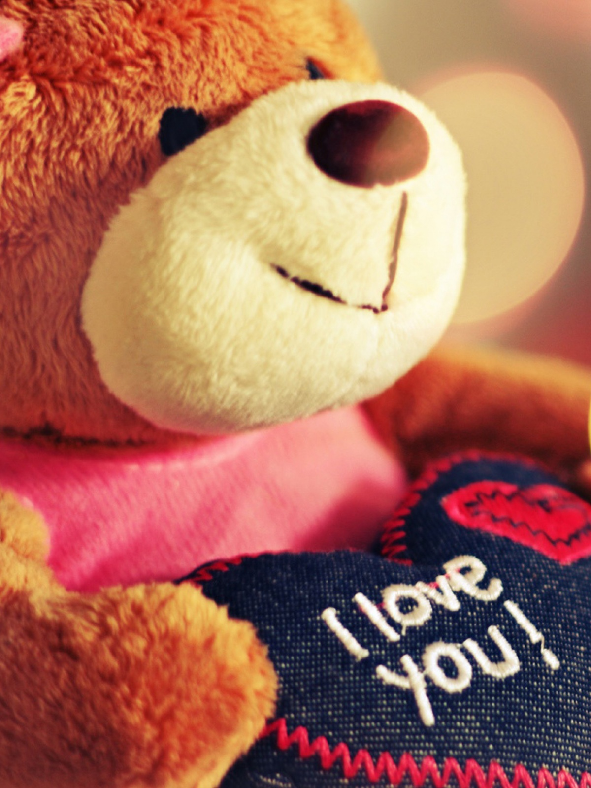 i love you teddy bear mobile wallpaper - mobiles wall
