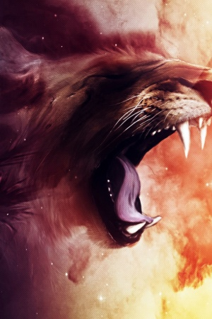 Roaring Lion Mobile Wallpaper