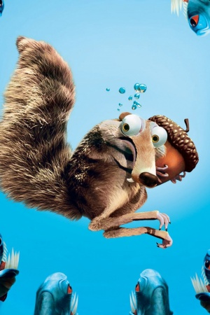 Scrat in Ice Age Mobile Wallpaper