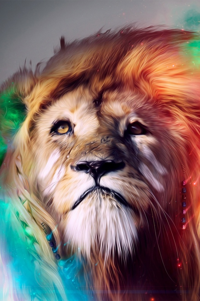 Lion Abstract Mobile Wallpaper Mobiles Wall