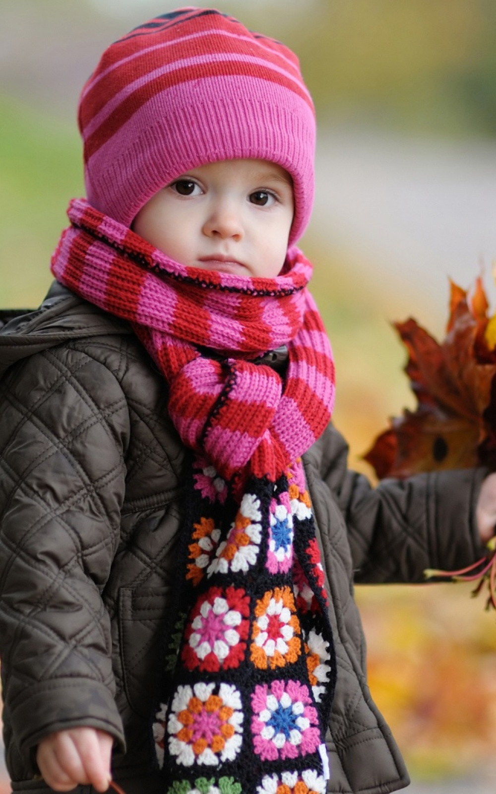 Cute Baby In Autumn Mobile Wallpaper Mobiles Wall