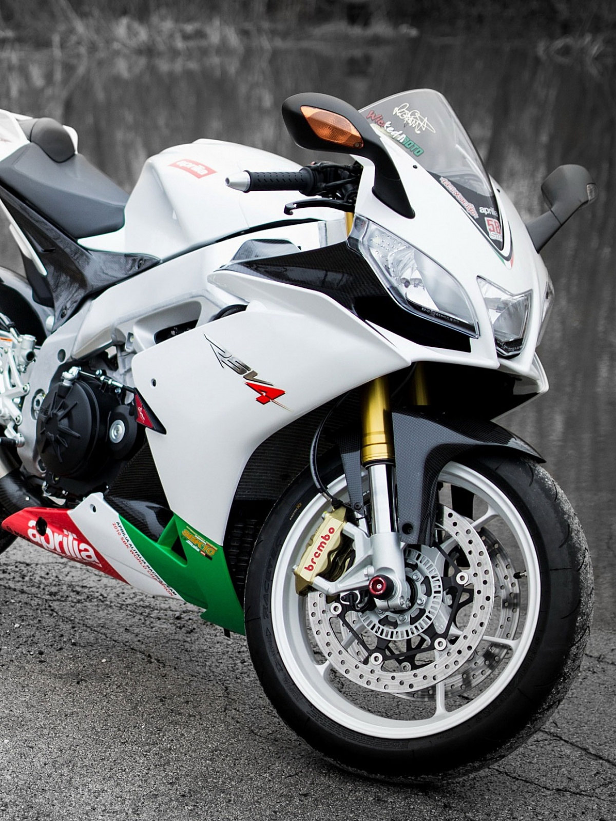 white motorcycle mobile wallpaper - mobiles wall