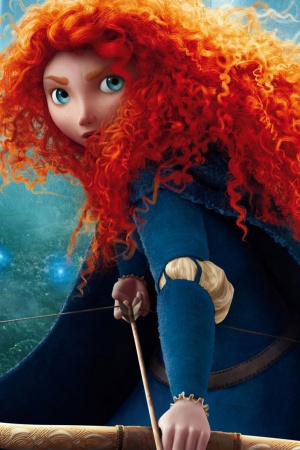 Braves Princess Merida Mobile Wallpaper