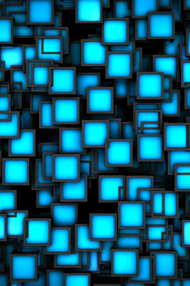 Neon Squares Mobile Wallpaper Mobiles Wall