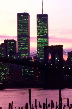 New York's Twin Towers Mobile Wallpaper