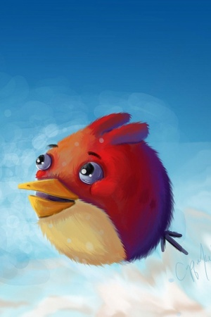 Angry bird artwork Mobile Wallpaper