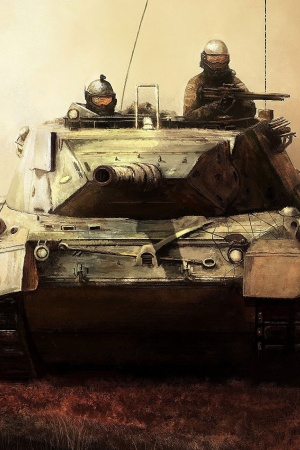 Art tank soldiers weapon Mobile Wallpaper