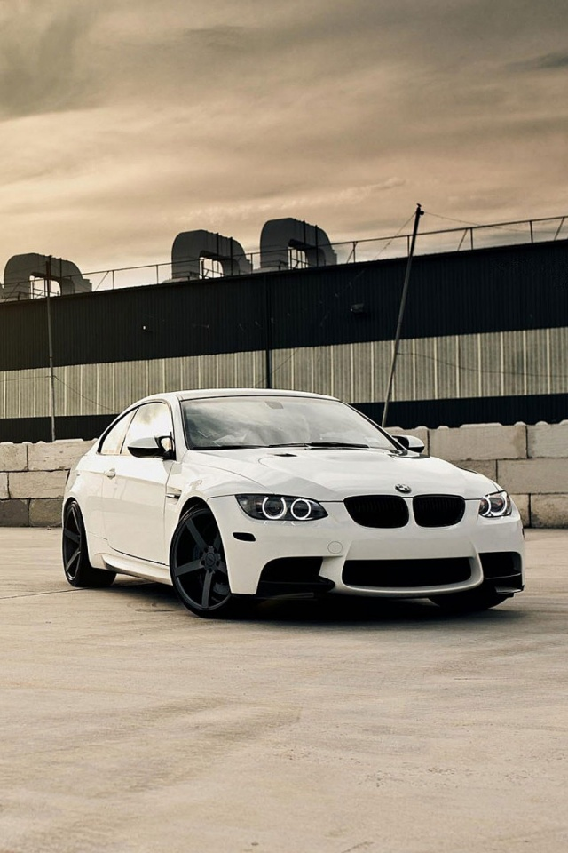 Bmw M3 E92 White Car Mobile Wallpaper
