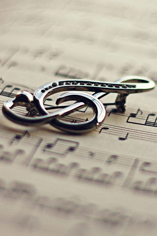 Book Violin Key Music Mobile Wallpaper