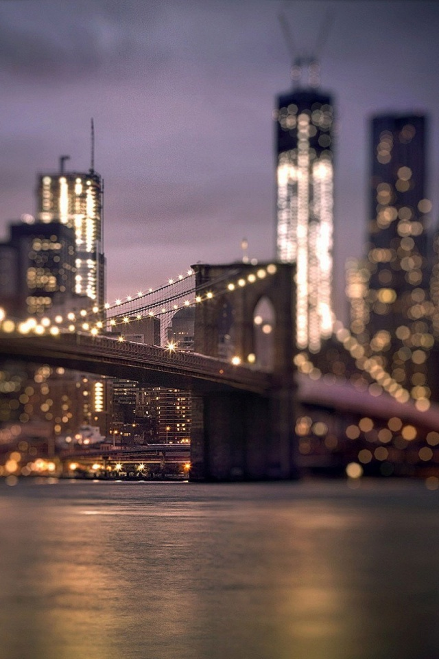 Brooklyn Bridge New York Mobile Wallpaper
