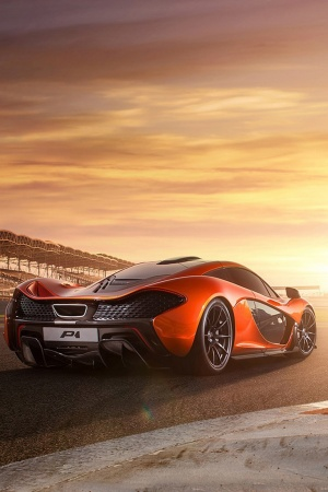 2014 McLaren P1 RaceTrack Mobile Wallpaper