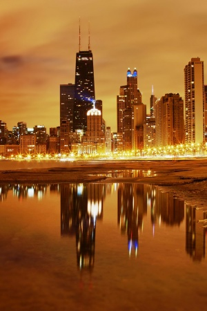 Chicago Late Evening Mobile Wallpaper