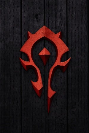 World of Warcraft – Horde Sign Mobile Wallpaper