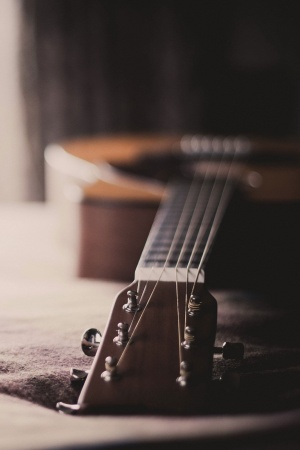 Guitar music bokeh Mobile Wallpaper