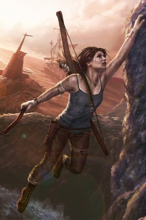 Lara croft art Mobile Wallpaper