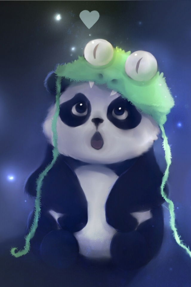 Cute Panda Painting Mobile Wallpaper