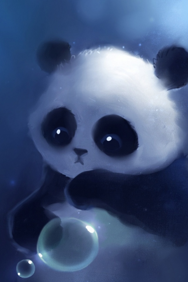 Sad Panda Painting Mobile Wallpaper Mobiles Wall