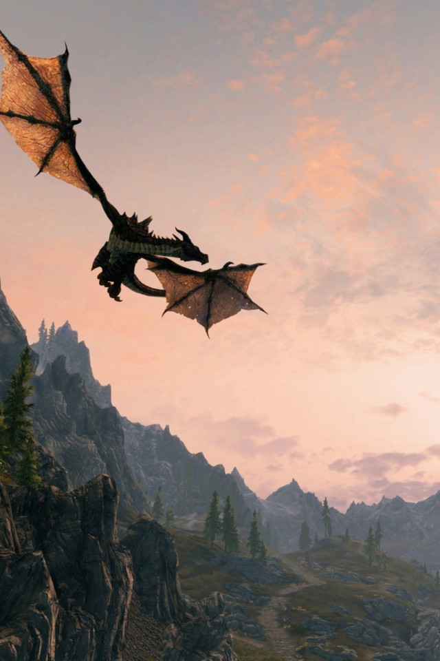 Skyrim dawnguard mobile wallpaper mobiles wall download now voltagebd