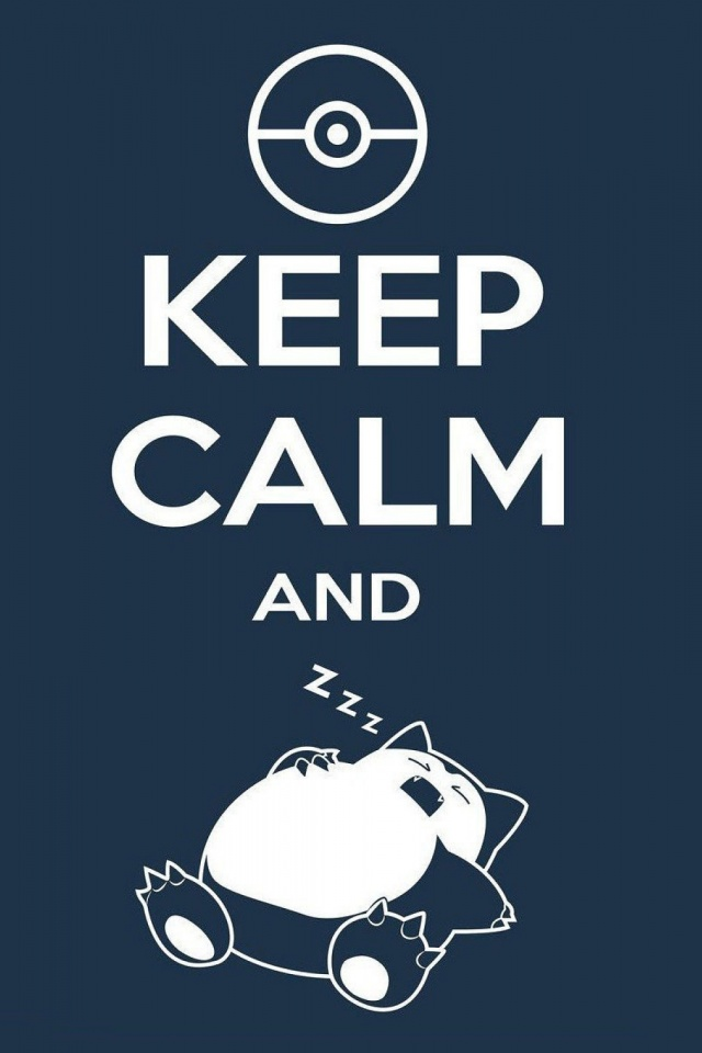 Keep Calm And Zzz Mobile Wallpaper
