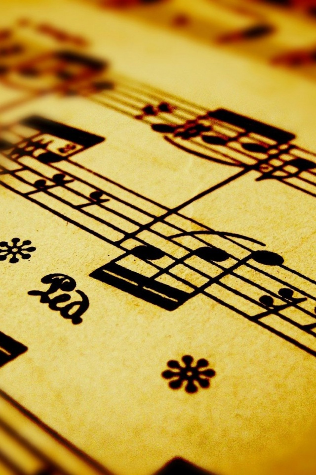 Music Notes Close Up Mobile Wallpaper Mobiles Wall