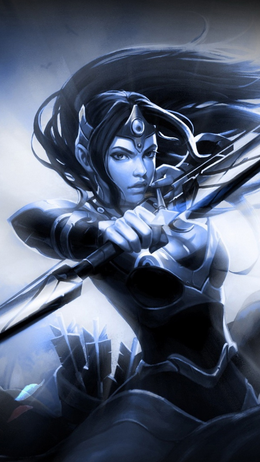 mirana dota 2 mobile wallpaper mobiles wall