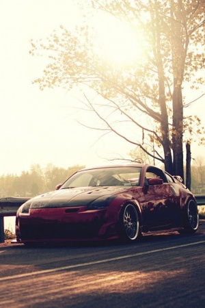 Road nissan 350z tuning Mobile Wallpaper