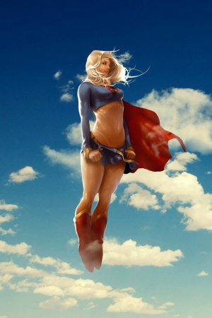 super girl Mobile Wallpaper
