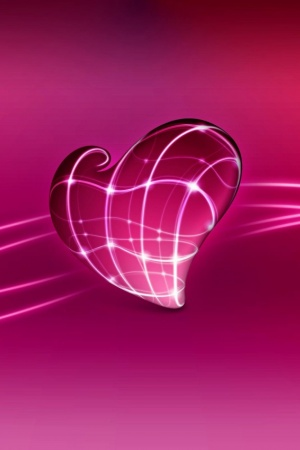 3D Love Heart Mobile Wallpaper