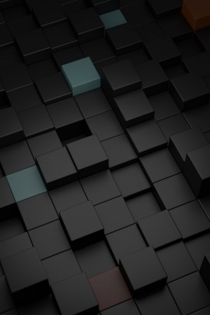 Black Cubes Mobile Wallpaper