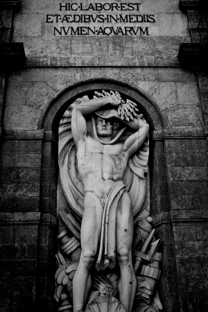 Black and  white historical church sculpture Mobile Wallpaper