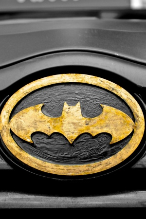 Car superhero symbol batman Mobile Wallpaper