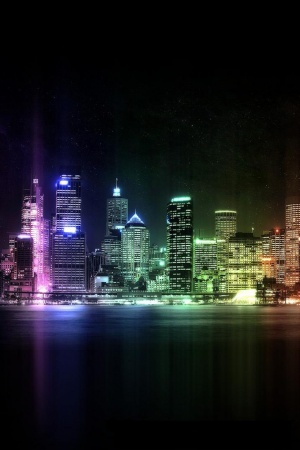 city of lights Mobile Wallpaper