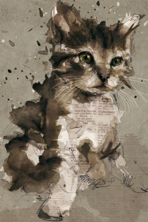 Cat Painting Mobile Wallpaper